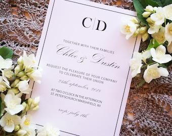 Glamorous Monogram Wedding Invitation, Romantic Invitation Template, Printable Editable Invite,Weeding Set,Invitation Suite,Instant Download