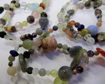 Mix Gemstone Beads Strands, 15 inch, Assorted Gemstones, Each Strand Different, Value Beads, Hot Item, Gem Treasures