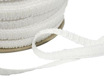 5 yds Ruched White Strap Elastic (E79W-5)
