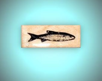 realistic FISH mounted rubber stamp, men, masculine, Father's Day, bullet or art journaling, trout, Sweet Grass Stamps No.14