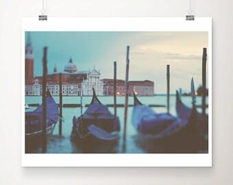 venice photograph gondola photograph venice print travel photography italian decor italy photograph blue home decor landscape photograph