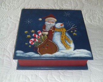 Painted Santa Box