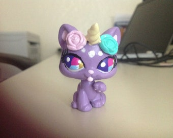 Custom LPS Sweet Lilac Unicorn Kitty