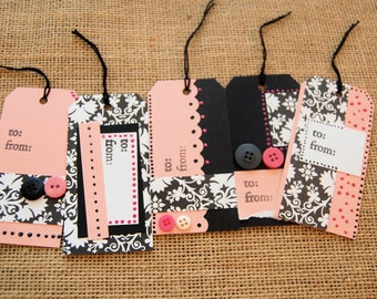 Gift Tags Set of 5 French Girly