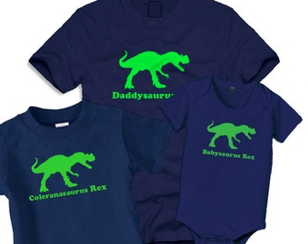 Trex matching shirts, daddysaurus, Fathers day, Dad and kids matching shirts, dinosaur shirt fathers day gift,
