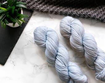 Hand dyed yarn, hand dyed dk yarn, handdyed yarn, handgefärbte Wolle, cashmere yarn, dk merino yarn, Featherfin PREORDER  - Arctic