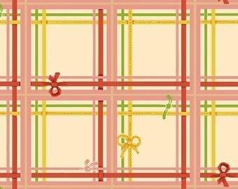 Sugarplum by Heather Ross for Windham Fabrics - Plaid - Cream - 50168-2 - Fat Quarter - FQ - Cotton Quilt Fabric