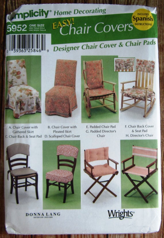 Easy To Sew Chair Covers, Home Decorating, Rockers, Directors Chair Pads  Simplicity Pattern 5952 UNCUT From TinyHomeTreasures On Etsy Studio