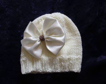 Baby Hat Hand Knitted 6-12mths