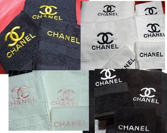Three Piece Towel Set Embroidered with Logo