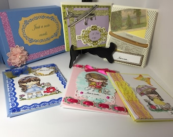 Set of five note cards boxed