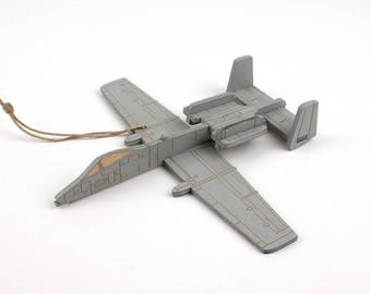 A-10 Thunderbolt II (Warthog) Jet Christmas Ornament