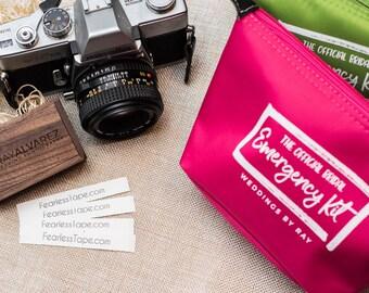 Pink Bridal Emergency Kit - Wedding Day Survival Kit - Bridesmaids Gift to Bride - Makeup Bag - Bridal Kit - FREE SHIPPING