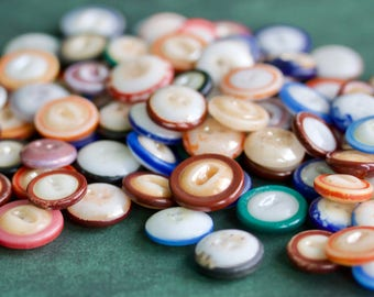 90 Small China Mound Buttons