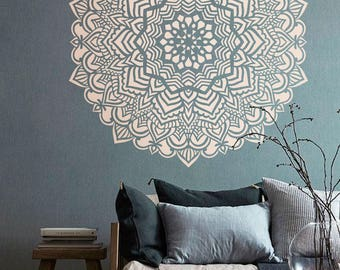 Mandala stencil Mandala pattern for DIY Wall decor Modern home stencils Mandala wall art Yoga studio decor  #s015
