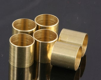 Raw Brass Tube 25 Pcs 9 x 9 mm (hole 7,9 mm) industrial brass Charms,Pendant,Findings spacer bead 1445