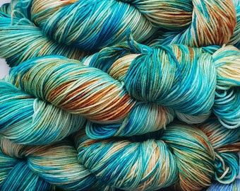 Kingfisher, Hand dyed Merino/Nylon Sock Yarn