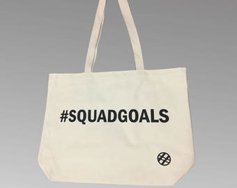 SquadGoals Recycled Cotton Tote Bag - Gift - Hashtag - Hashbags