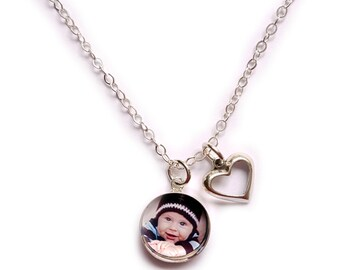 Photo Jewelry, Photo Necklace Sterling Silver, Photo Pendant, Heart Pendant, Personalized Jewelry, Photo Jewelry Heartstrings Jewels Jewelz
