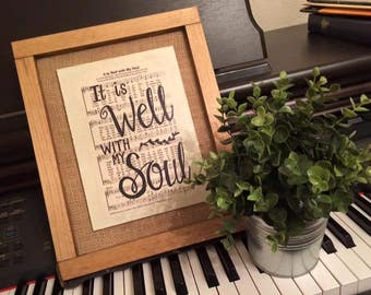 It is Well with my Soul | Hand Painted Sign | hymn