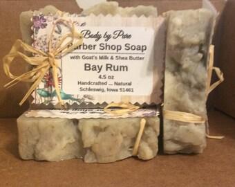 Rum Shaving Soap for Men, Bay Rum Shaving Soap,Oatmeal Shaving Goat Milk Soap, 4.5 oz