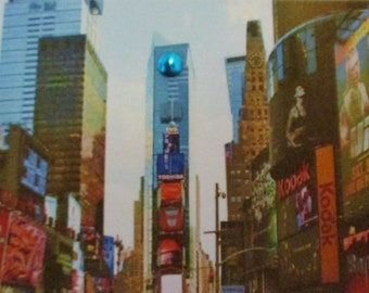 New York, Times Square, love quote, handmade card, original photography, FREE SHIPPING in U.S.