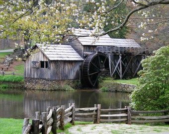 Mabry Mill 8x10 Photograph Virginia Blue Ridge Mountains Landscape Wall Art