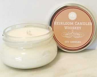 Whiskey Soy Candle - Gift for Him - Gift for Man - Liquor Candle - Bourbon Candle - Liquor Decor Gift - Whiskey Scented - Whisky Candle