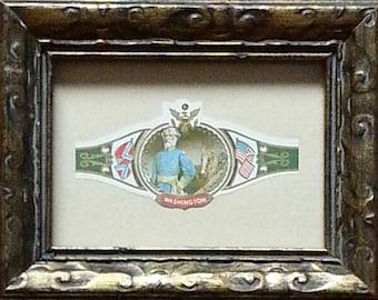 """Washington & Lee """"General Robert E Lee"""" Framed Vintage Cigar Band"""