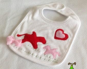 Pegasus Baby girl bib,Infant Bib, Feeding Bib, Baby Shower Gift