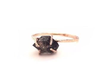 Black Diamond Engagement Rings, Diamond Engagement Rings, Black Diamond Wedding Ring, Rough Diamond Engagement Ring, Gold Engagement Ring
