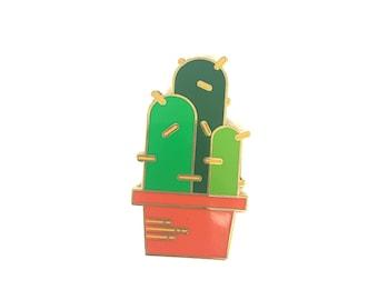 "CACTUS Lapel Pin - 1.25"" Hard Enamel Pin / Hat Pin - Succulent Enamel Pin - Cactus Pin"