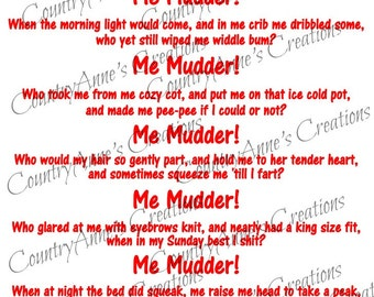 "SVG PNG DXF Eps Ai Wpc Cut file for Silhouette, Cricut, ""Me Mudder"" svg"