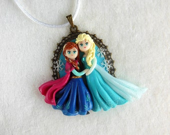 Frozen *Sisters Love* Cameo Necklace