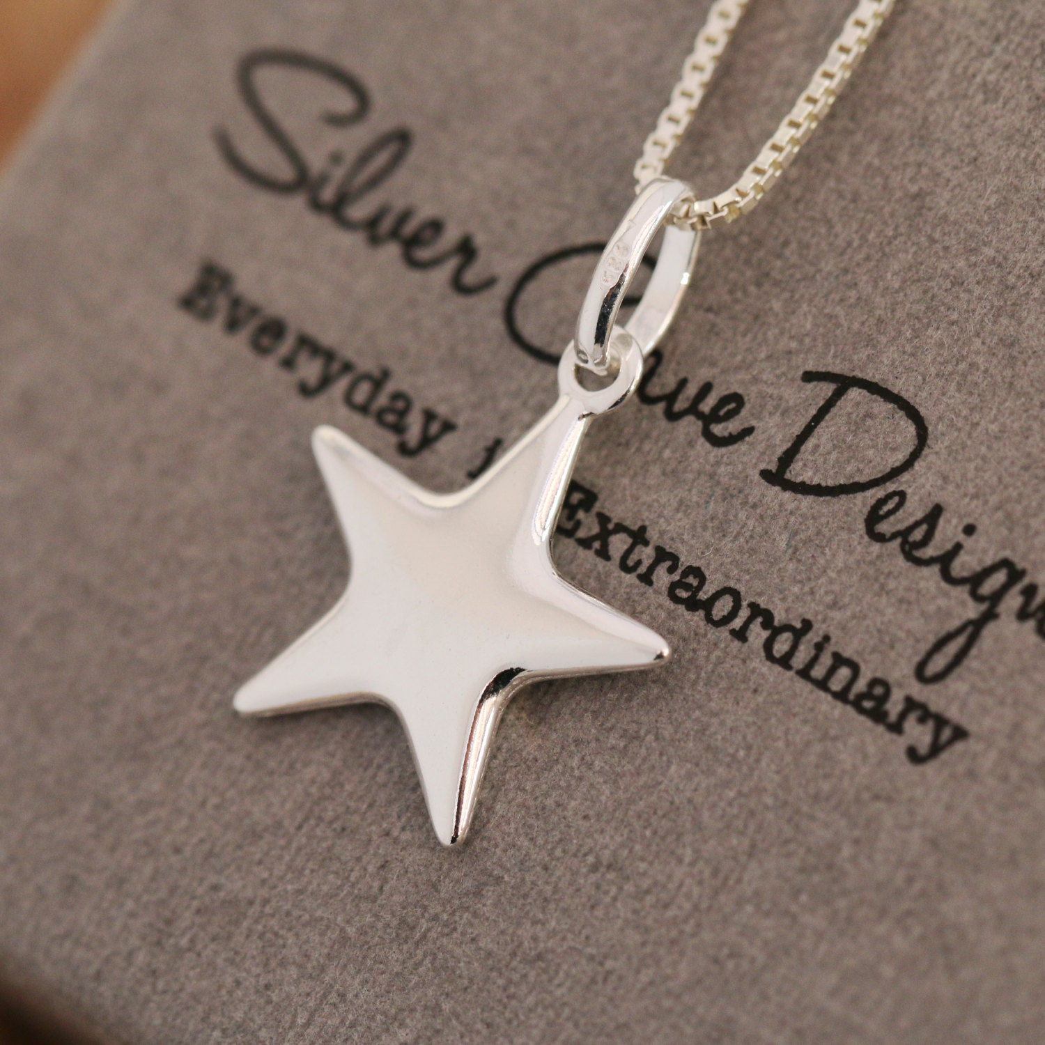 Sterling silver star pendant necklace silver star necklace wishing gallery photo gallery photo gallery photo aloadofball Image collections