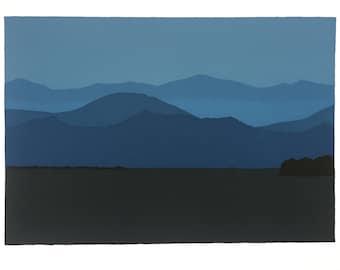 16'' x 11'' Blue Mountains