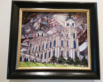 Stained glass Manti Temple picture