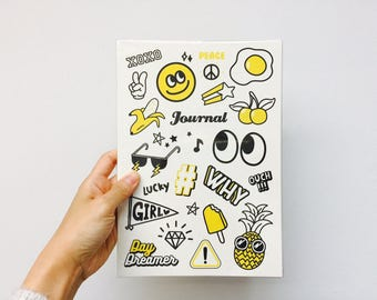 Emoji Monthly Planner Notebook / White / FREE SHIPPING