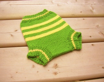 Hand Knitted Wool Cloth Diaper Cover Soaker Wool Nappy Cover  Baby Diaper Cover Knit Cloth Diaper size Small 0-6  Months
