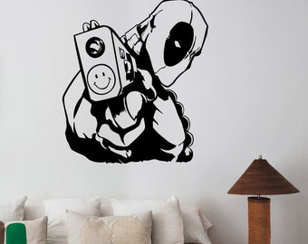 Deadpool Wall Sticker Vinyl Decal Marvel Comics Superhero Art Decorations for Home Living Room Bedroom Kids Boys Room Decor dpl6
