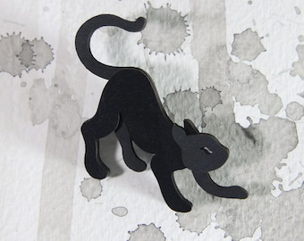 Cat Brooch - Omens Collection