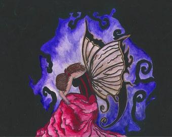 "Fine Art Fairy Print  ""Arethusa"""