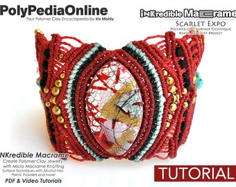 Macrame Patterns, Macrame Jewelry, Macrame Tutorial, Bracelet Pattern, Handmade, Micro Macrame Jewelry, DIY Polymer, Macrame Jewelry Pattern