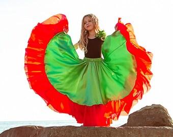 """Gypsy skirt """"Little Gypsy (green)"""""""