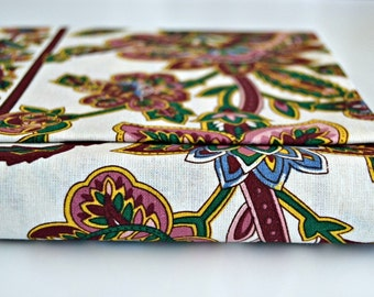 Portuguese Chintz Fabric - Flowers and White