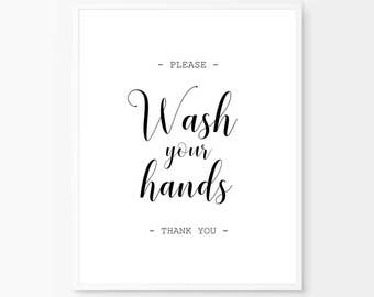 Wash your hands sign, Bathroom print, Funny wall art, Bath Art, Funny Bathroom wall decor, Wash your hand, Kids Bathroom art, Bathroom decor