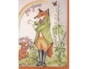 Fox Gloves - Everyday/ Birthday Card
