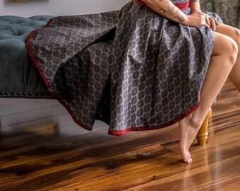 High-Low Circle Skirt