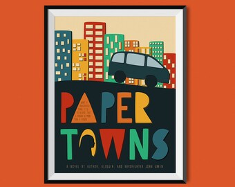 Paper Towns by John Green Book Cover Print