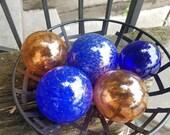 Blue & Copper Floats, Set...
